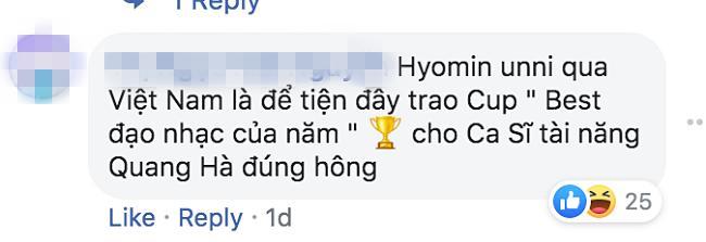 Vì sao nữ thần Hyomin (T-ara) sang Việt Nam nhưng Quang Hà lại được réo tên đề nghị diễn cùng?-3