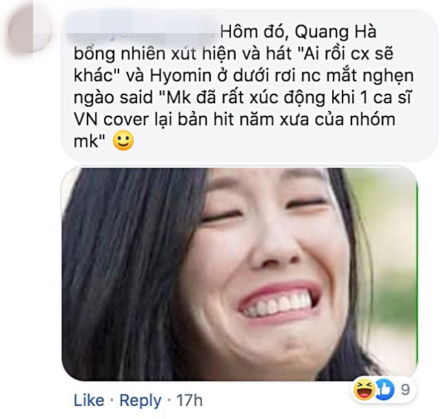 Vì sao nữ thần Hyomin (T-ara) sang Việt Nam nhưng Quang Hà lại được réo tên đề nghị diễn cùng?-6