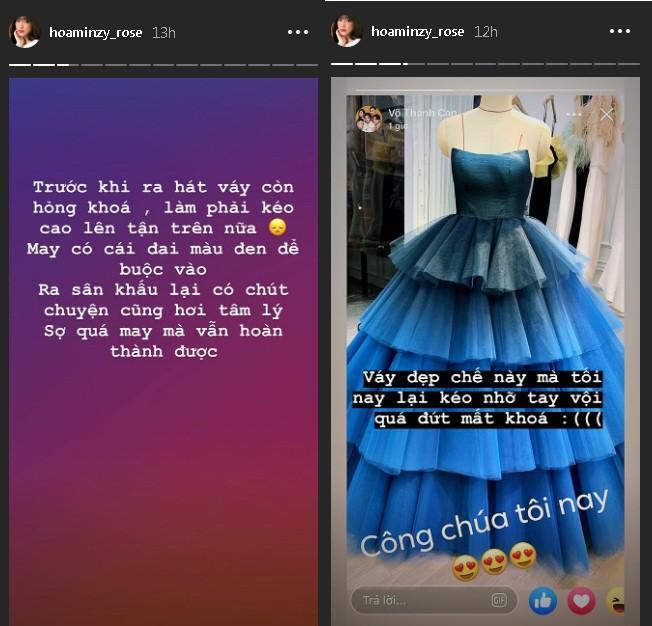 Hòa Minzy gặp sự cố với khóa váy trước khi ra sân khấu-1