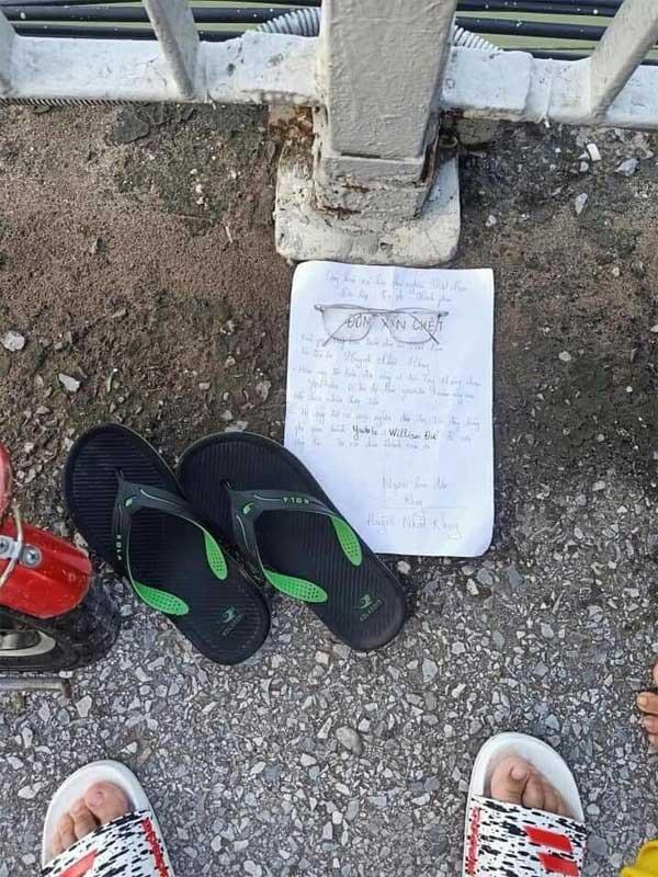 Thanh niên giả vờ nhảy cầu tự tử, để lại ĐƠN XIN CHẾT khiến ai đọc xong cũng... há hốc mồm-2