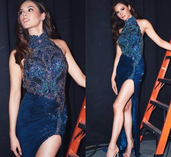 Hết vía với thời trang đã lôi thôi còn sến sẩm, tố cáo hình thể kém hoàn hảo của Hoa hậu Hoàn vũ 2018-8