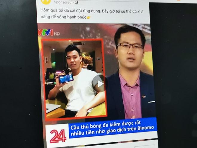 Mạo danh VTV đăng bài Văn Thanh quảng cáo cá cược Binomo-1