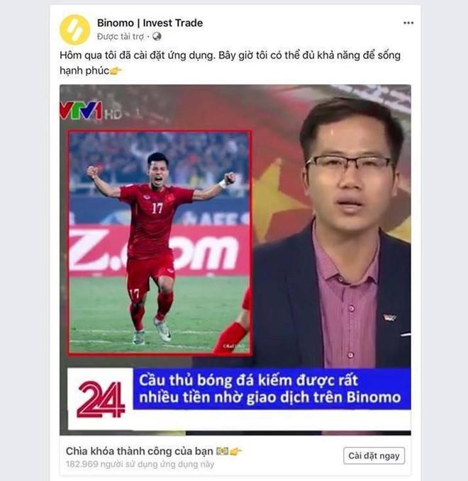 Mạo danh VTV đăng bài Văn Thanh quảng cáo cá cược Binomo-2