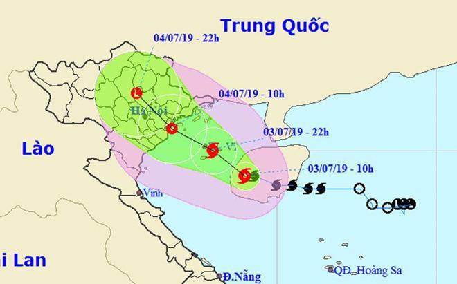 Kịch bản của bão số 2 - Mun khi đổ bộ miền Bắc-1