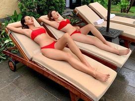 Hoa hậu Kỳ Duyên bị mỉa mai 'mù màu' vì không phân biệt nổi bikini đang mặc tone đỏ hay cam