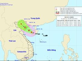 Tâm bão số 2 cách Bạch Long Vĩ 130km