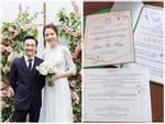 Hé lộ thiệp cưới với yêu cầu khách mời 'nói không với công nghệ' của Cường Đô La - Đàm Thu Trang