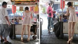 Sự thật ngã ngửa về cô gái mặc váy ngắn sexy bán mì khiến khách hàng đến ăn tận 5 bát 1 lần