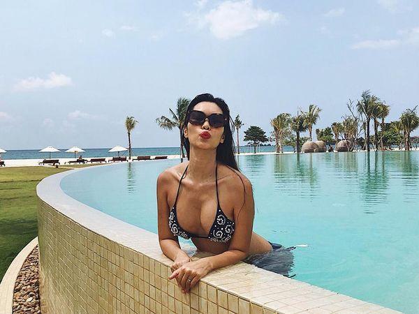 Top mỹ nhân Việt bầu bí vượt mặt vẫn mặc bikini đẹp nhất-12