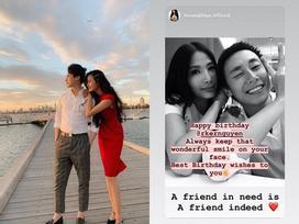 Sau tin đồn hẹn hò, Á hậu Hoàng Thùy công khai ảnh thân mật chúc mừng sinh nhật 'người tình tin đồn' Rocker Nguyễn