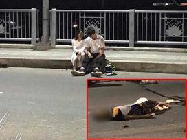 Đôi nam nữ lái xe phân khối lớn tông trúng cụ ông nhặt ve chai trên cầu Thủ Thiêm, ngồi bình thản tâm sự, không xem nạn nhân sống hay chết?