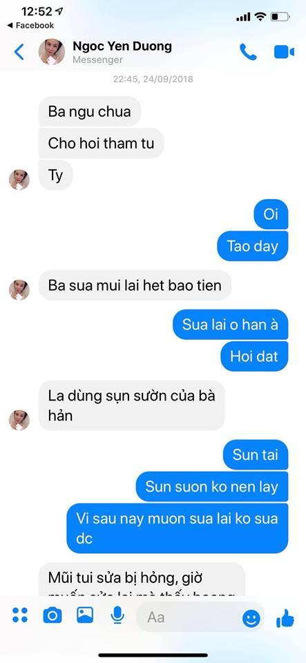 Dương Yến Ngọc chê Việt Anh dao kéo phá tướng, Quế Vân lập tức tung tin nhắn tố họ Dương từng là nạn nhân phẫu thuật hỏng-4
