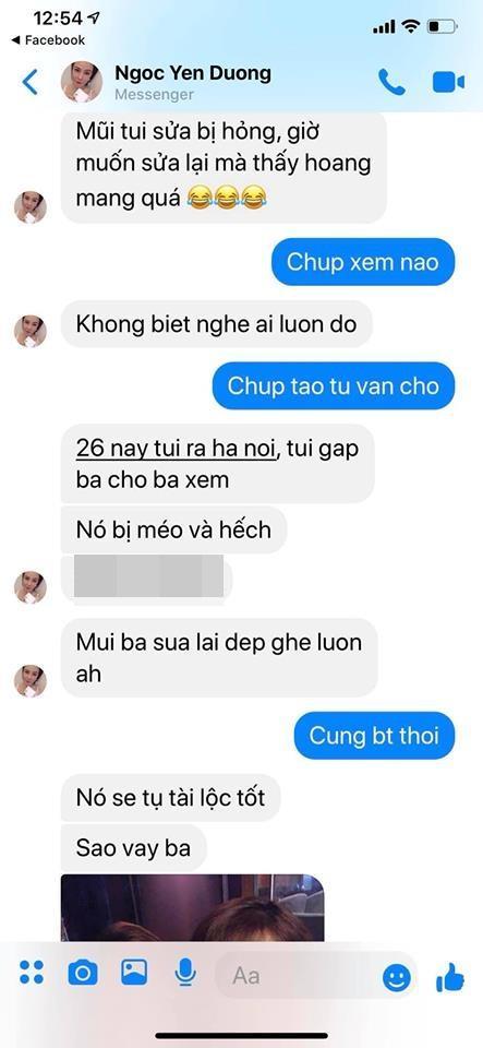 Dương Yến Ngọc chê Việt Anh dao kéo phá tướng, Quế Vân lập tức tung tin nhắn tố họ Dương từng là nạn nhân phẫu thuật hỏng-5
