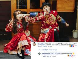 Tiếp tục khoe ảnh cưới mặn mòi, Mai Quỳnh Anh bị ông xã Cris Phan đá đểu: 'Chả hiểu con vợ hay con voi'