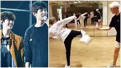 ĐẮNG LÒNG: Thành viên EXO kẻ trẹo hông, người xây xẩm vì ham hố đu trend 'thử thách đá nắp chai'