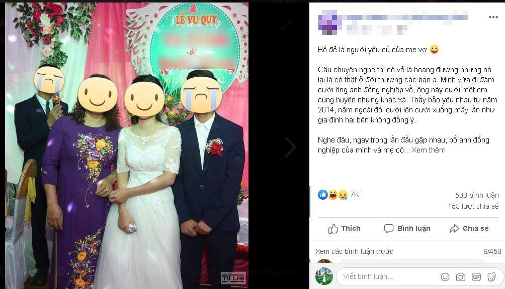Oan gia ngõ hẹp: Cô dâu chú rể khóc dở mếu dở vì bố đẻ là người yêu cũ của mẹ vợ-2