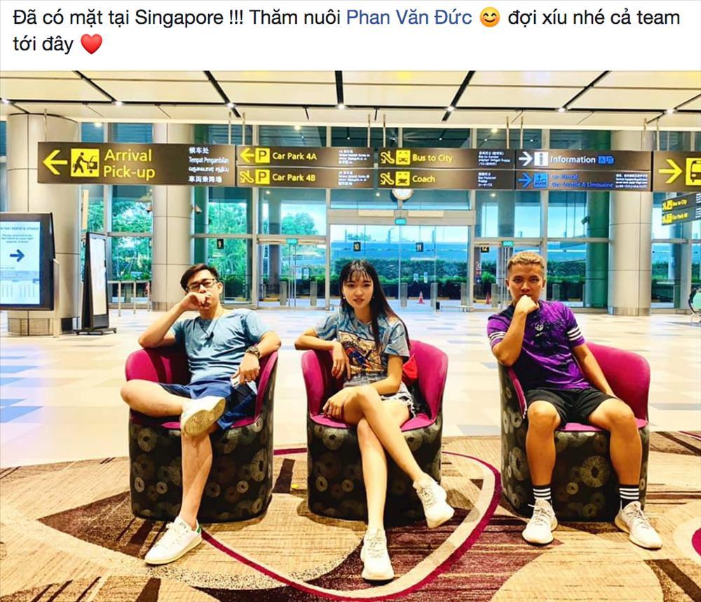 Ngọc Nữ công khai chuyện sang Singapore thăm Văn Đức, dân mạng được dịp đẩy thuyền chuyện tình người đẹp - cầu thủ-5