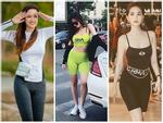 Học Ngọc Trinh cách diện quần tập bó sát ra phố mà không bị 'lộ hàng' như tình cũ Trường Giang, Mai Phương Thúy