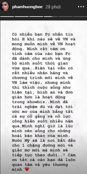 Ngay sau ồn ào bị bóc phốt dốt tiếng Anh, Hoa hậu Phạm Hương khẳng định không còn muốn hoạt động trong showbiz Việt-2