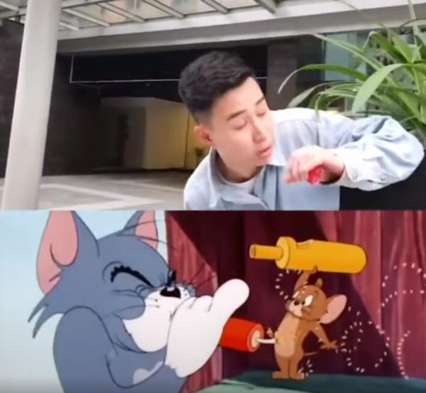 Trào lưu đá nắp chai chưa hạ nhiệt, dần tình thi nhau bắt chước hành động của Tom và Jerry-1