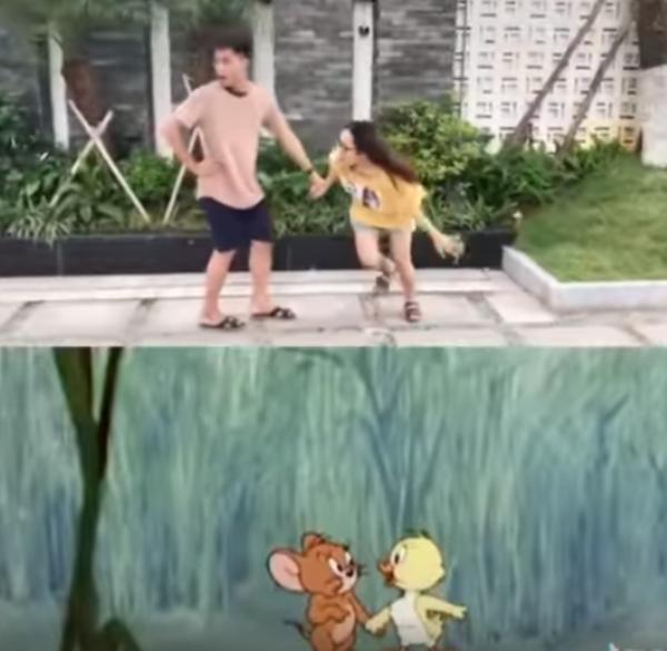 Trào lưu đá nắp chai chưa hạ nhiệt, dần tình thi nhau bắt chước hành động của Tom và Jerry-2