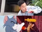 Trào lưu đá nắp chai chưa hạ nhiệt, dần tình thi nhau bắt chước hành động của Tom và Jerry