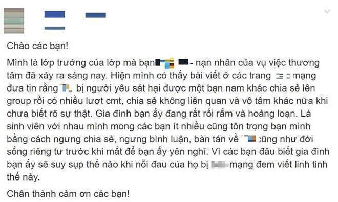 Nhiều bình luận, suy diễn ác ý về nữ sinh Sài Gòn 19 tuổi bị giết hại-2