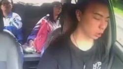 Clip: Ngủ gật 4 giây, vừa mở mắt tài xế đã gây tai nạn thương tâm