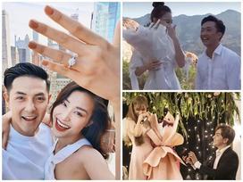 Sau loạt tin buồn hôn nhân, showbiz Việt lại 'đón nắng' bằng những màn cầu hôn lãng mạn