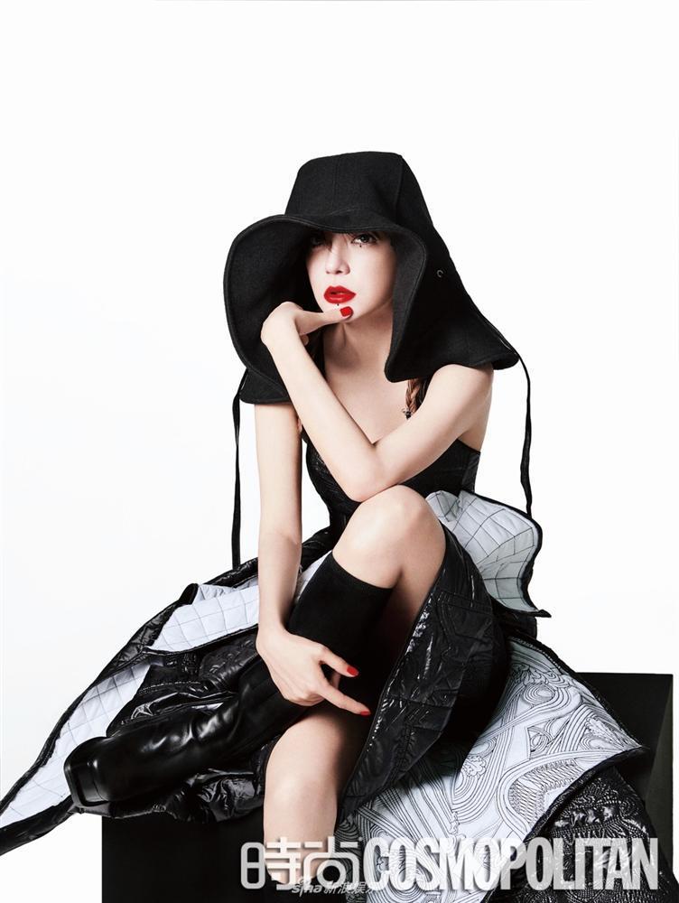 Triệu Vy lột xác cùng phong cách gothic ma mị trên tạp chí thời trang Cosmopolitan-2