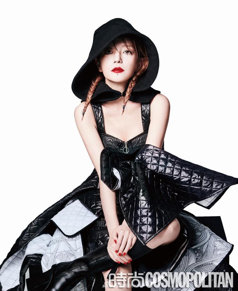 Triệu Vy lột xác cùng phong cách gothic ma mị trên tạp chí thời trang Cosmopolitan-4