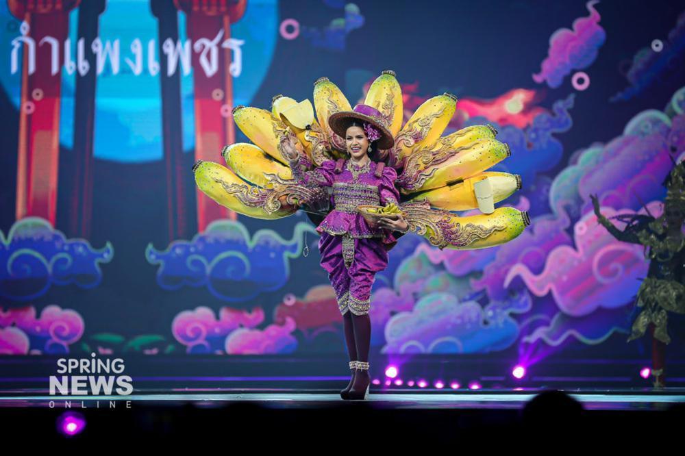 Thật như đùa ở Thái: Mỹ nữ quàng nải chuối lên người đi thi hoa hậu!-3