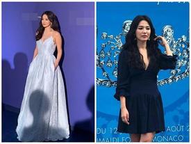 Giữa tâm bão ly hôn, Song Hye Kyo xuất hiện rạng rỡ, diện váy khoét sâu khoe vòng 1 táo bạo