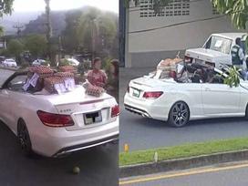 Người phụ nữ lái xe Mercedes mui trần đi bán trứng dạo khiến cả phố kinh ngạc