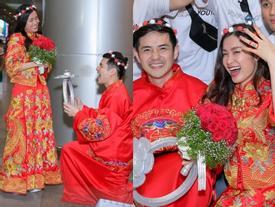 HOT: Đông Nhi - Ông Cao Thắng bị 'đánh úp', bất ngờ tổ chức hôn lễ ngay tại phi trường lúc nửa đêm