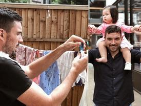 Chồng siêu mẫu Hà Anh giặt đồ, rửa bát, chuẩn chồng hiện đại giờ phải thế