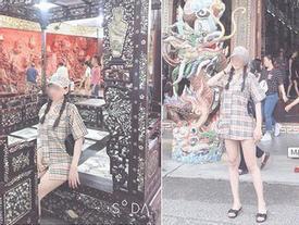 Mặc váy ngắn như sắp lộ cả vòng 3 rồi check-in phản cảm trong chùa ở Đà Lạt, gái xinh bị ném đá vì chơi trội không đúng chỗ