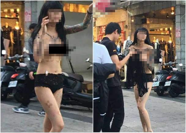 Cô gái gây sốc nhất MXH sáng nay: Cả người chỉ có mỗi quần lót vẫn thản nhiên đi dạo giữa trung tâm mua sắm-1