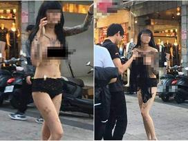 Cô gái gây sốc nhất MXH sáng nay: Cả người chỉ có mỗi quần lót vẫn thản nhiên đi dạo giữa trung tâm mua sắm