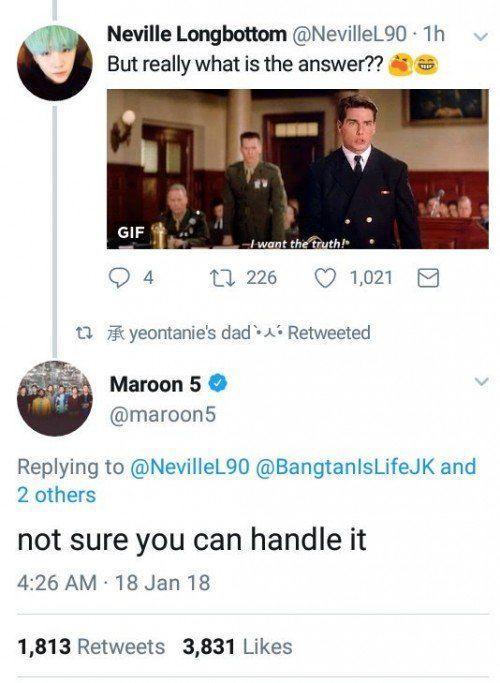 Hài hước với loạt bằng chứng cho thấy Maroon 5 là fan BTS từ hồi… năm 2014-6