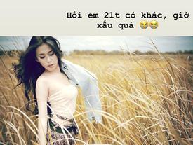 Hot girl Ngọc Thảo khoe ảnh năm 21 tuổi, tự nhận 'giờ xấu quá'