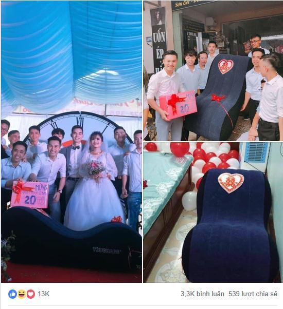 Đám cưới hot nhất mạng xã hội: Cô dâu được mừng cưới chục bao gạo siêu to khổng lồ khiến quan khách cười bò-4