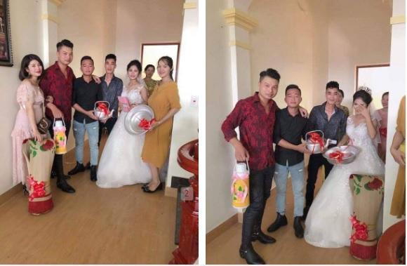 Đám cưới hot nhất mạng xã hội: Cô dâu được mừng cưới chục bao gạo siêu to khổng lồ khiến quan khách cười bò-7