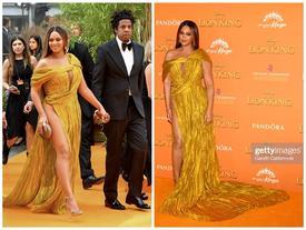 Diện đầm xẻ cao ngút ngàn, mỗi bước đi của Beyoncé lại khiến người nhìn 'thót tim' lo Diva lộ hàng