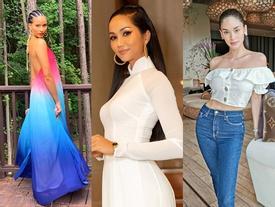 Bản tin Hoa hậu Hoàn vũ 15/7: H'Hen Niê diện áo dài trắng vẫn 'chặt đẹp' dàn mỹ nhân từ Đông sang Tây
