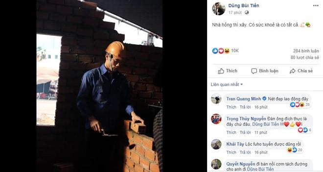 Bùi Tiến Dũng xắn tay xây lại căn nhà bị cháy của bà nội ở Thanh Hóa-1