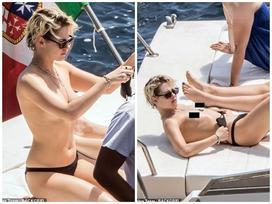 Kristen Stewart vô tư bán khỏa thân đi du lịch cùng bạn gái đồng giới