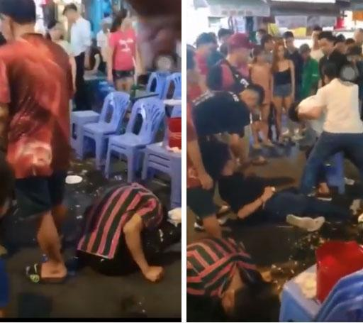 Video: 3 thanh niên lên cơn co giật, giãy giụa trên phố Bùi Viện khiến nhiều người sợ hãi-3