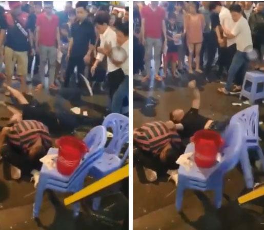 Video: 3 thanh niên lên cơn co giật, giãy giụa trên phố Bùi Viện khiến nhiều người sợ hãi-2