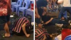 Video: 3 thanh niên lên cơn co giật, giãy giụa trên phố Bùi Viện khiến nhiều người sợ hãi